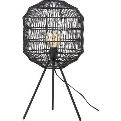 Lámpara mesa metálica/negra  60 W