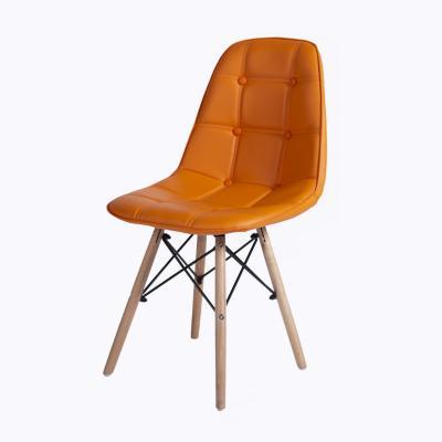 Silla Eames acolchada naranja