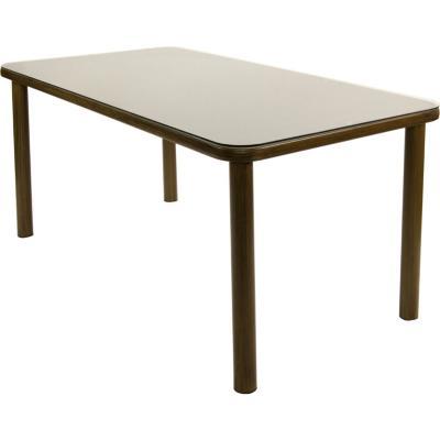 Mesa rectangular 6 personas de aluminio y material reciclado polywood