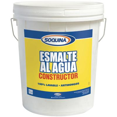Esmalte al  agua constructor blanco 5gl