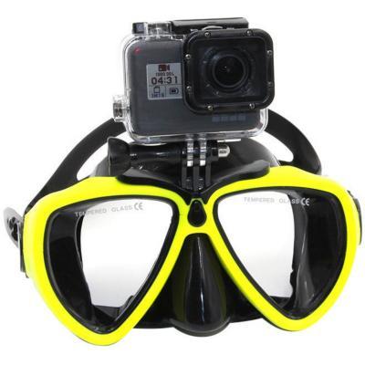 Máscara de buceo con soporte para cámara gopro