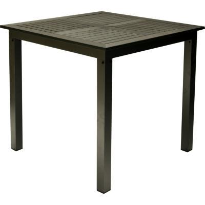 Mesa cuadrada para 4 de aluminio y material reciclado polywood