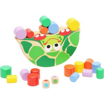 Juguete de madera equilibrio tortuga