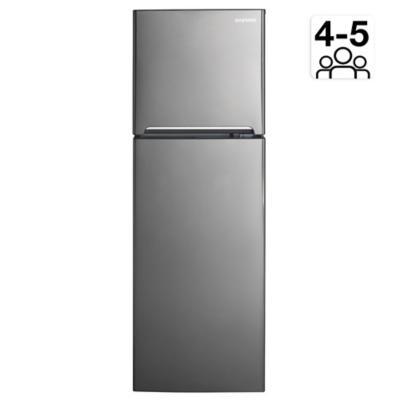 Refrigerador no frost top mount freezer 317 litros gris
