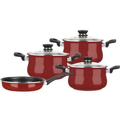 Batería de cocina 7 piezas rubi rojo
