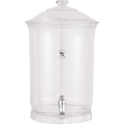 Dispensador 11 litros acrilico  transparente, 2 piezas