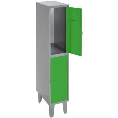 Lockers metálico 1 cuerpo 2 puertas color verde