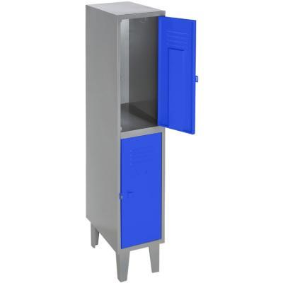 Lockers metálico 1 cuerpo 2 puertas color azul