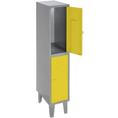 Lockers metálico 1 cuerpo 2 puertas color amarillo