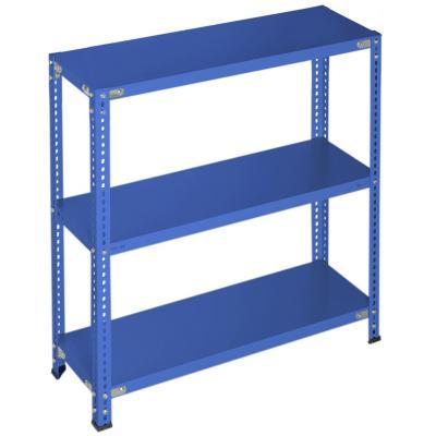 Estantería azul 3 bandejas 90x30x100 cm