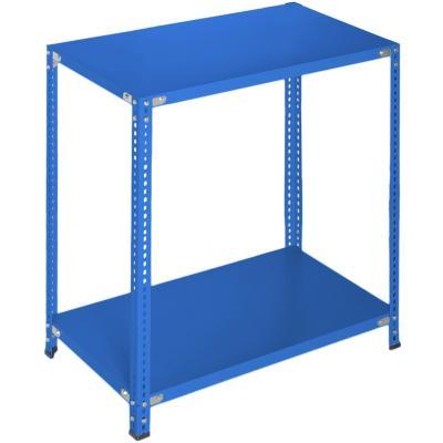Estantería azul 2 bandejas 90x50x100 cm