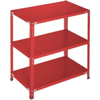 Estantería rojo 3 bandejas 90x60x100 cm