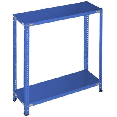 Estantería azul 2 bandejas 90x30x100 cm