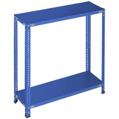 Estantería azul 2 bandejas 90x40x100 cm