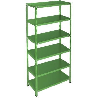 Estanteria verde 90x50x200 6 bandejas