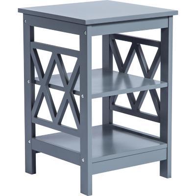 Mesa lateral 40x40 cm MDF gris