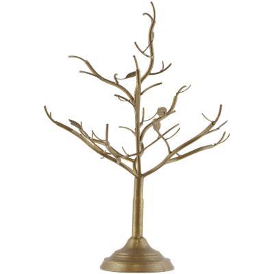 Arbol metálico dorado 35x38x56 cm