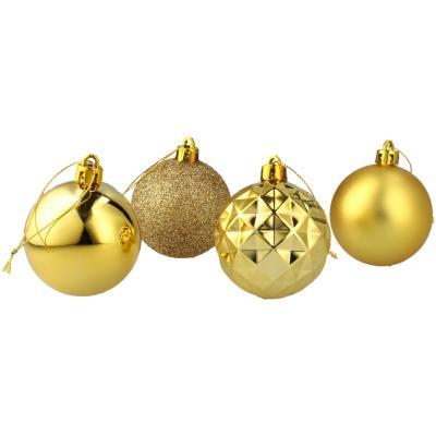 Set 40 esferas 6 cm doradas