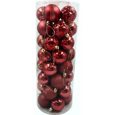 Set 40 esferas 6 cm rojas