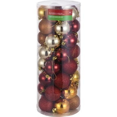 Set 40 esfera 6cm rojo mix