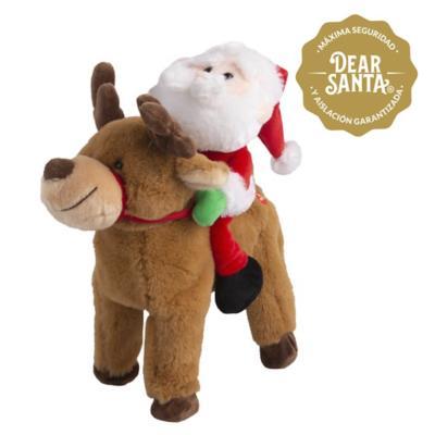 Santa con reno música camina con batería