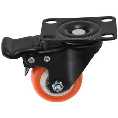 Rueda 50mm con placa y freno black/orange