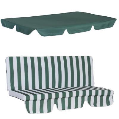 Repuesto cojin y toldo para sillon columpio verde