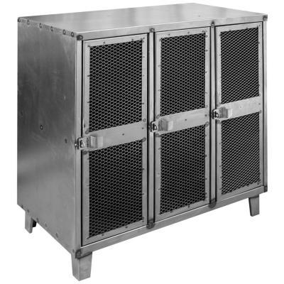 Bar lockers industrial 3 cuerpos 3 puertas malla