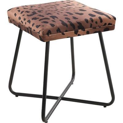 Pouff leopardo 35x35x43