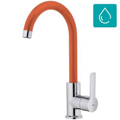 Monomando lavaplatos Inca IN-915 naranjo