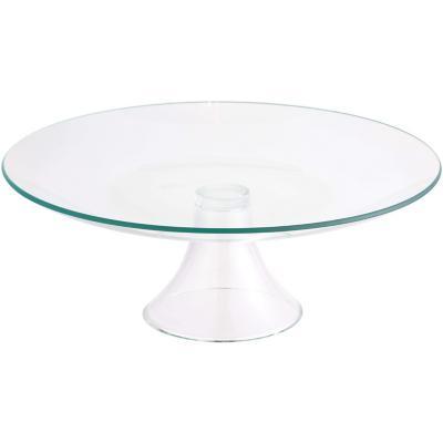 Plato tarta con pie vidrio 31 cm