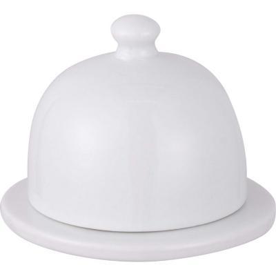 Mantequillera redonda. porcelana 9 cm