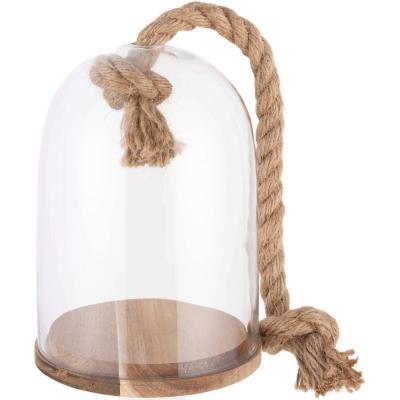 Cupula vidrio con base 14x21 cm