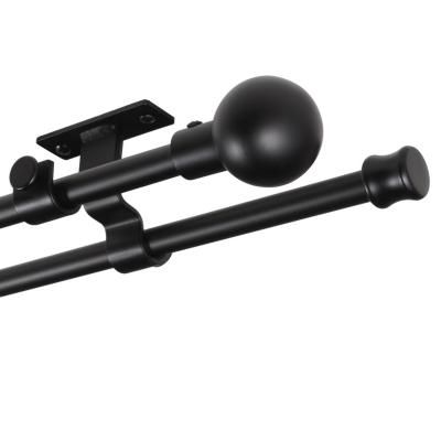 Set de Barra Doble Techo 16/19 mm extensible 170-320 cm Bola Negro
