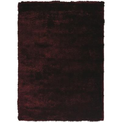 Alfombra shaggy silky 120x170 cm rojo