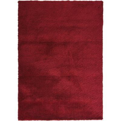 Alfombra shaggy elastic 120x170 cm rojo