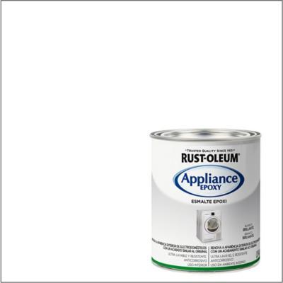 Esmalte epóxico blanco brillante 1/4 galón