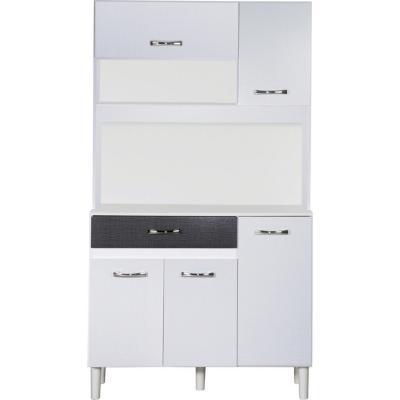 Kit mueble cocina 91x170x36 cm Blanco/Negro
