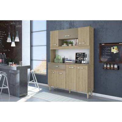 Kit mueble cocina 121x170x36 cm Café