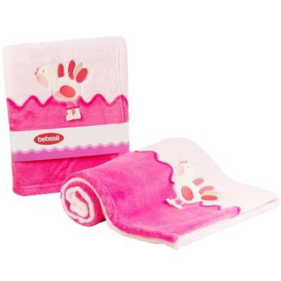 Manta bebé plush rosado 70x100 cm