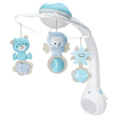 Móvil bebé Proyector azul 3 en 1