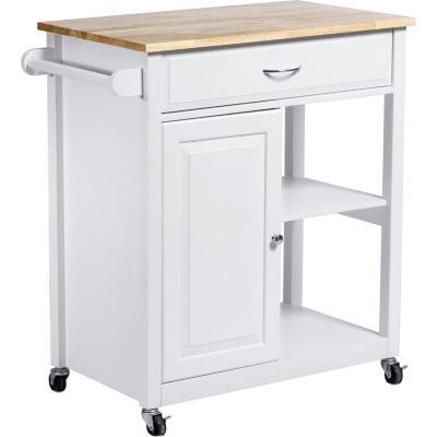 Isla cocina 82,5x45x87,6 cm blanco