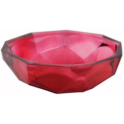Centro Origami 25 cm rojo