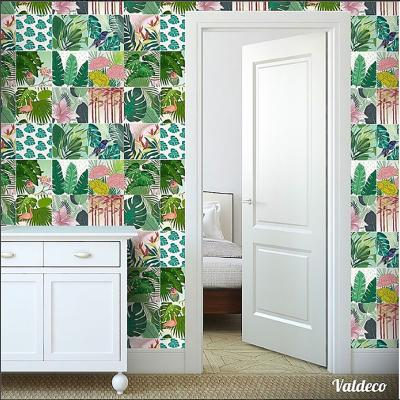 Stickers tropical 15x15 cm set de 12 unidades