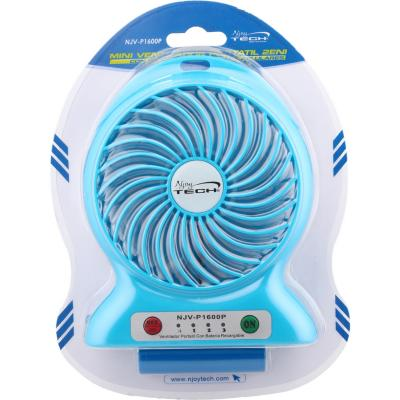 Mini ventilador con batería recargable portatil 2 en 1 USB power bank