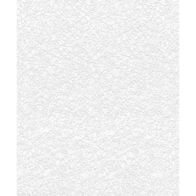 Papel mural pintable blanco 0,53x10 m