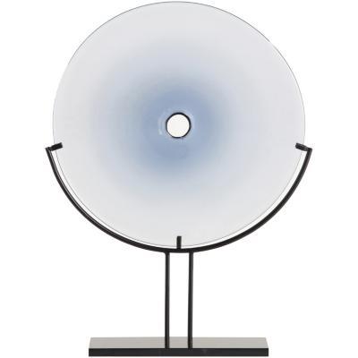 Adorno con base azul 30,5x9,5x42 cm