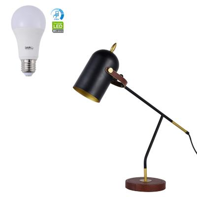 Combo Lámpara de Mesa 1L E27 60W + Ampolleta LED A60 11.5W E27