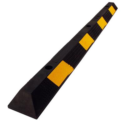 Tope de estacionamiento 90cmx15cmx10xm negro/amarillo