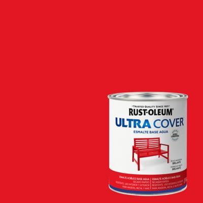 Esmalte al agua Ultra Cover rojo manzana brillante 1/4 gl